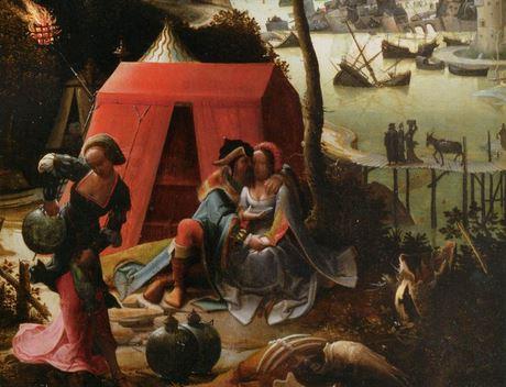 La fuite de Loth et de ses filles, de Lucas de Leyden