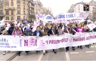 1 million dans la rue contre le projet du Président Hollande